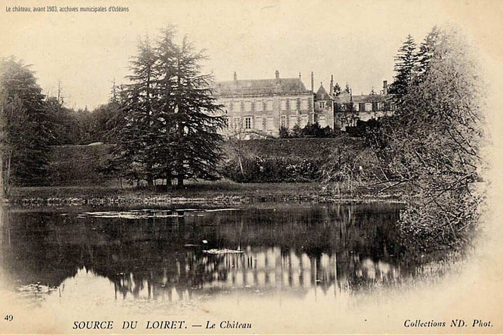 Le château du Parc Floral avant 1903